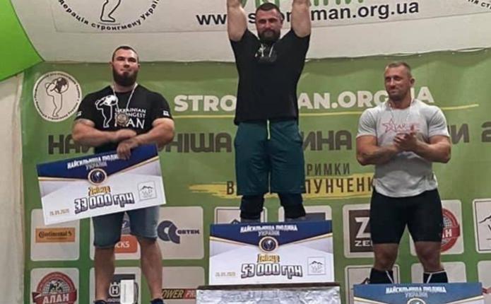 Турнір «Найсильніша людина України»: буковинський богатир здобув бронзову медаль
